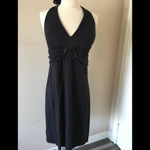 Tommy Bahama Black halter dress